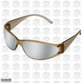 ERB 15406 Mirror Lens Safety Glasses Boas Brown Silver Mirror Lens