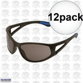 ERB 16671 Safety Glasses Erban Black - Smoke Lens 12x