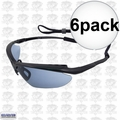 ERB 16858 Mirror Lens Safety Glasses Maltese Black/Blue 6x