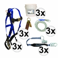 FallTech 8595A 5pc Contractor Complete Roofer's Kit 3x