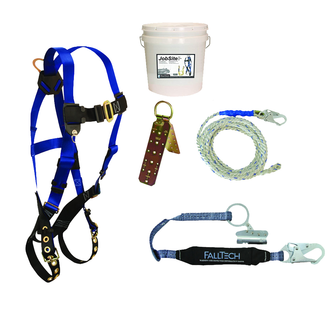 Falltech 8595a 5pc Contractor Complete Roofer S Kit