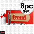 Freud 87-108 8 Piece CNC Router Bit Signmaking Set