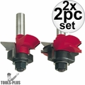 Freud 99-191-2 V Panel Router Bit Set 2x 2pc