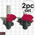 Freud 99-191 V Panel Router Bit Set 2pc