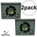 Generac 6338 Generator Power Inlet Box 50 Amp Twistlock Non-Metallic 2x