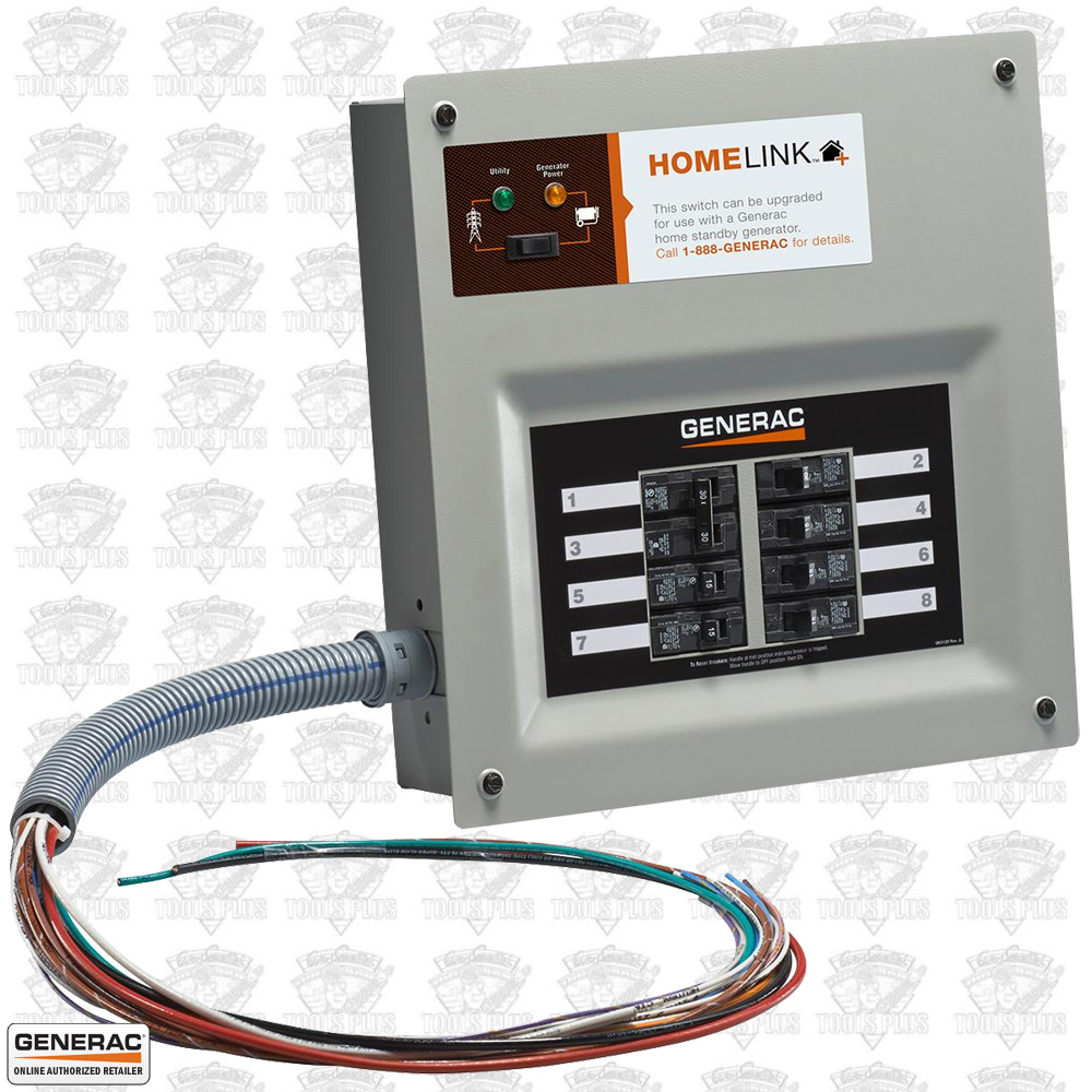 Generac Homelink Manual Transfer Switch Installation Wiring Standby Generator And Installed In A Home Electrical 6852 30 Amp Upgradeable Pre Wired Rh Tools Plus Com Honeywell Automatic