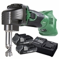 Hitachi CN18DSLP4 18V Li-Ion Cordless Nibblerw/2 3.0ah Batts+Charger
