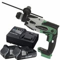 Hitachi DH18DSLP4 18V Li-Ion SDS-Plus Rotary Hammer w/2 3.0ah Batts+Charger