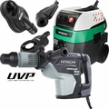 "Hitachi DH45MEY 1-3/4"" SDS Max UVP Rotary Hammer w/HEPA Vac+Dust Collection"