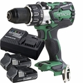 Hitachi DS18DBL2P4 18V Li-Ion Brushless Driver Drill w/2 3ah Battery+Charger