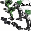 Hitachi DS18DSAL 18V HXP Li-Ion 2-Tool Combo Kit with 2 HXP Batteries 2x