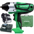 "Hitachi WR18DSHL Cordless Impact 1/2"" High Torque 18V Li-Ion 2x4.0ah's KIT"