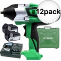 "Hitachi WR18DSHL 18V Li-Ion High Torque 1/2"" Impact w/2 4.0ah Batts 12x"