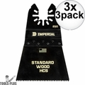 "Imperial Blades IBOA250-3 3pk ONE FIT 2-1/2"" 12T Wood Oscillating Blades 3x"