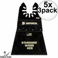 "Imperial Blades IBOA250-3 3pk ONE FIT 2-1/2"" 12T Wood Oscillating Blades 5x"