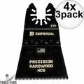 "Imperial Blades IBOA270 3pk ONE FIT 2-1/2"" J-Tooth Oscillating Blades HCS 4x"