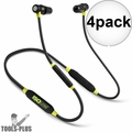 ISOtunes IT-02 Noise-Isolating Bluetooth Earbuds 27db NRR 8 Hour Battery 4x