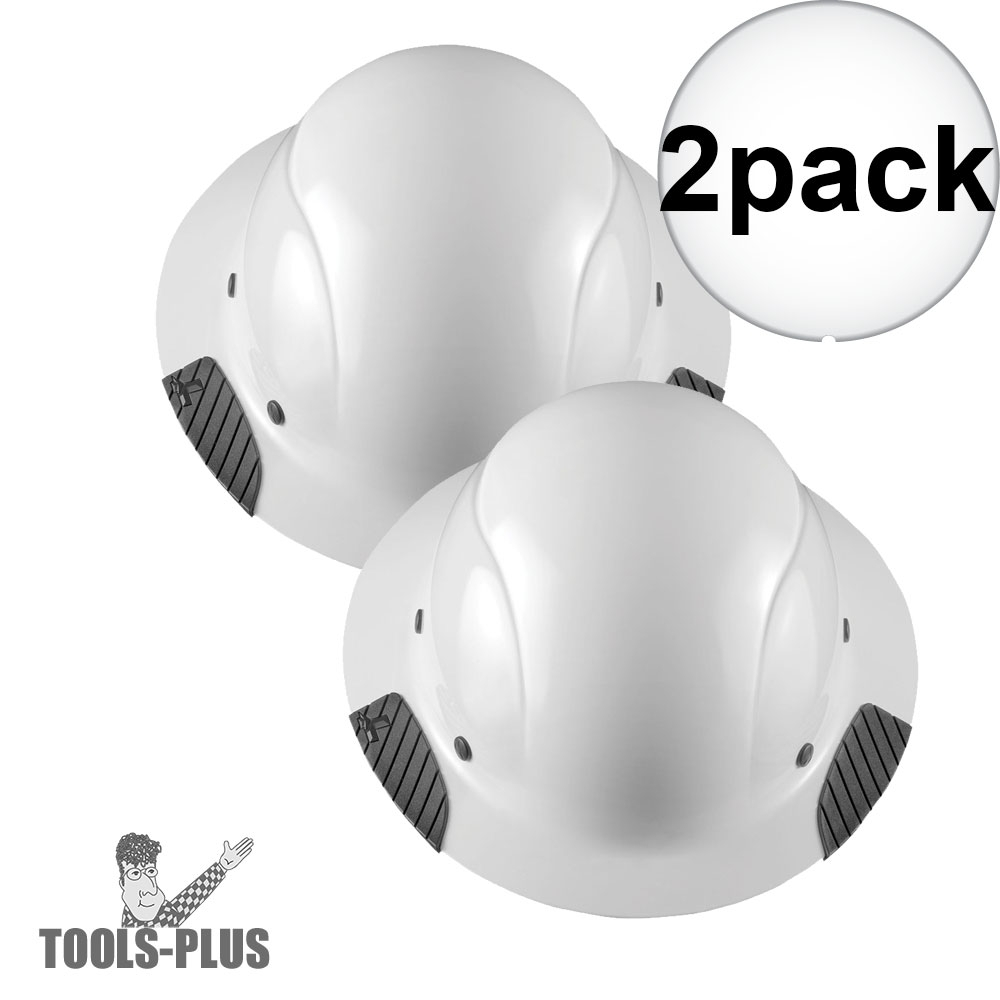 Lift Safety HDF-15WG DAX Full Brim White Hard Hat with Ratchet Suspension 2x