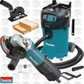 "Makita 9564PC SJS 4-1/2"" Angle Grinder w/HEPA Vac Dust Collector + Shroud"