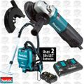 "Makita 9564PC SJS 4-1/2"" Angle Grinder with Dust Guard and HEPA Vac"