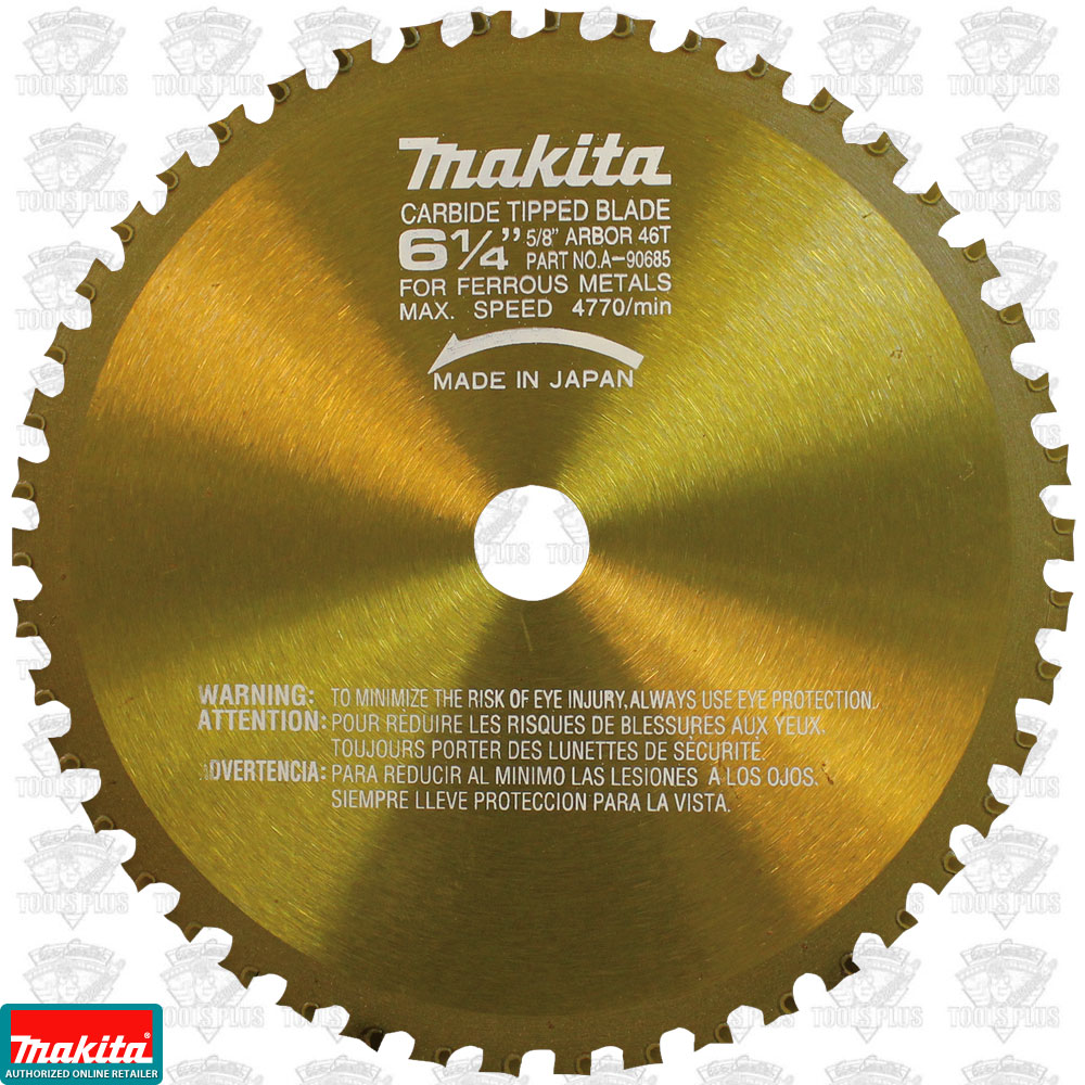 """Makita A-90685 6-1//4/"""" 46 Tooth Metal Cutting Saw Blade with 5//8/"""" Arbor New"""