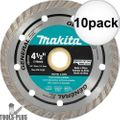 "Makita A-94552 4-1/2"" Turbo Rim Diamond Masonry Blade 10x"