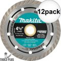 "Makita A-94552 4-1/2"" Turbo Rim Diamond Masonry Blade 12x"
