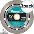 "Makita A-94552 4-1/2"" Turbo Rim Diamond Masonry Blade 3x"