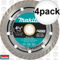"Makita A-94552 4-1/2"" Turbo Rim Diamond Masonry Blade 4x"