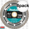 "Makita A-94552 4-1/2"" Turbo Rim Diamond Masonry Blade 8x"