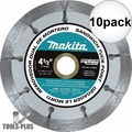 "Makita A-95912 4-1/2"" Dual Sandwich Diamond Tuck Point Blade 10x"