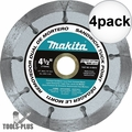 "Makita A-95912 4-1/2"" Dual Sandwich Diamond Tuck Point Blade 4x"