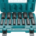 "Makita A-96372 14-Piece 1/2"" Drive 6-Point Deep Well Impact Socket Set"