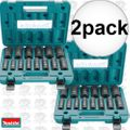 "Makita A-96372 14-Piece 1/2"" Drive 6-Point Deep Well Impact Socket Set 2x"