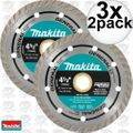 "Makita A-97617 2pk 4-1/2"" General Purpose Turbo Rim Diamond Blades 3x"