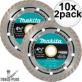 "Makita A-97617 4-1/2"" General Purpose Turbo Rim Diamond Blades 10x 2pk"