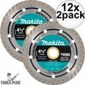 "Makita A-97617 4-1/2"" General Purpose Turbo Rim Diamond Blades 12x 2pk"