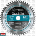 "Makita A-98809 6-1/2"" 48T Carbide-Tipped Cordless Plunge Track Saw Blade"