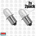 Makita A90261 2pk 18 Volt Flashlight Replacement Bulb 2x