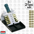 Makita B-31893 21pc Set Impact Gold Ultra Magnetic Insert Bit Set 8x