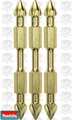 "Makita B-39590 3pk Impact GOLD #3 2-1/2"" Phillips Power Bits Double-Ended"