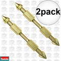 "Makita B-39615 Impact GOLD #2 3-1/2"" Phillips Power Bit Double-Ended 2x"