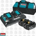 Makita BL1850B2DC2X 18V LXT Li-Ion 5.0Ah Battery & Dual Port Charger Kit