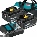 Makita BL1850BDC2X 18V LXT Li-Ion Battery+Rapid Optimum Charger (5.0Ah)