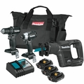 Makita CX300RB 18V LXT Lithium-Ion Sub-Compact Brushless 3pc 4 Batteries