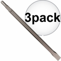 "Makita D-20080 3x 1"" x 12"" Flat Chisel, Spline or 3/4"" hex - 21/32"" round"