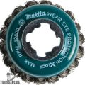 "Makita D-72615 X-LOCK 3-1/8"" Carbon Steel Knot Thin Wire Cup Brush"