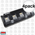 Makita DC18SF 4 port 18 Volt LXT Cordless Battery Charger 4x
