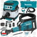 "Makita HM1307CB 1-1/8"" Hex Demolition Hammer w/HEPA Vac + Dust Extraction"