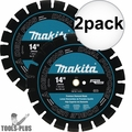 "Makita T-01270 14"" Segmented Dual Purpose Diamond Blade 2x"